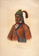 [History of the Indian Tribes of North America, Me-na-wa, a Creek warrior]
