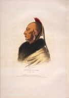 [History of the Indian Tribes of North America, Le Soldat du Chene, an Osage chief]