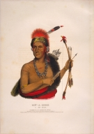 [History of the Indian Tribes of North America, Pow-a-sheek, a Fox chief]