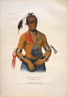 [History of the Indian Tribes of North America, Hoo-wan-ne-ka, a Winnebago chief]