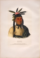 [History of the Indian Tribes of North America, Amiskquew, a Menominie warrior]