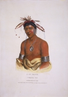 [History of the Indian Tribes of North America, J-Aw-Beance, a Chippeway Chief]