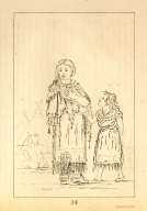 [Assiniboin woman and child, Letters and Notes on the Manners, Customs, and Condition of the North American Indians.]