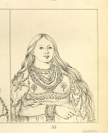 [Mink, a beautiful girl, Letters and Notes on the Manners, Customs, and Condition of the North American Indians.]