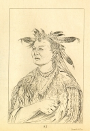 [Bloody Hand, chief of the tribe, Letters and Notes on the Manners, Customs, and Condition of the North American Indians.]