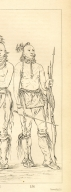 [He Who Is Not Afraid, Big Crow, and Man of the Bed, three young warriors [Detail], Letters and Notes on the Manners, Customs, and Condition of the North American Indians.]