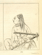 [Woman and child, showing how the heads of children are flattened, Letters and Notes on the Manners, Customs, and Condition of the North American Indians.]