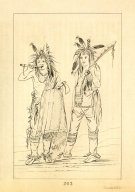 [Two young men, Letters and Notes on the Manners, Customs, and Condition of the North American Indians.]