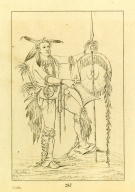 [The Whale, one of Keokuk's principal braves, Letters and Notes on the Manners, Customs, and Condition of the North American Indians.]