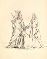 [A Native American and [Catlin ?] Shaking Hands [in Europe?], Adventures of the Ojibbeway and Ioway Indians in England, France, and Belgium.]