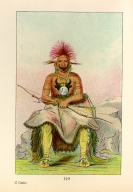 [The Manners, Customs, and Condition of the North American Indians., Buffalo Bull, a Grand Pawnee warrior]