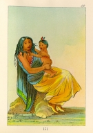 [The Manners, Customs, and Condition of the North American Indians., Wah-chee-te, wife of Clermont, and child]