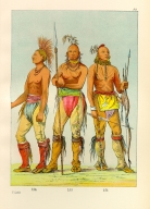 [The Manners, Customs, and Condition of the North American Indians., He Who Is Not Afraid, Big Crow, and Man of the Bed, three young warriors]