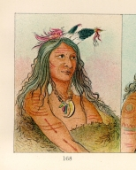 [The Manners, Customs, and Condition of the North American Indians., Bow and Quiver, first chief of the tribe]