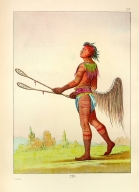 [The Manners, Customs, and Condition of the North American Indians., Drinks the Juice of the Stone, in ball-player's dress]