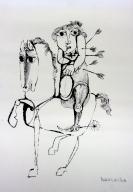Arrow-Pierced Man on Horse