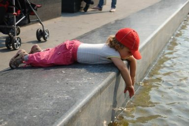 KIDS AND WATER IN A CITY