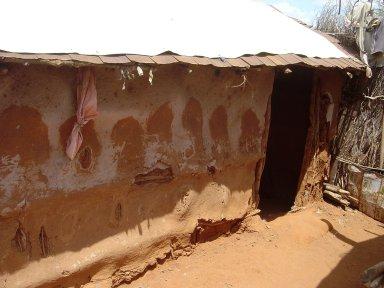 Somali Refugee Wattle and Daub House