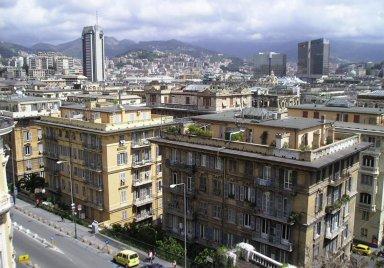 City View of Genoa, Italy