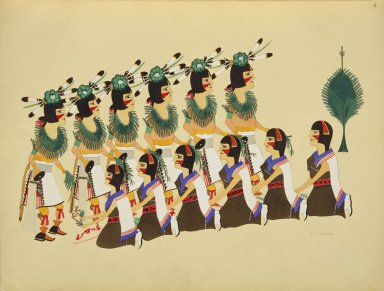 [Pueblo Indian painting; 50 reproductions of watercolor paintings by Indian artists of the New Mexican pueblos of San Ildefonso and Sia, Basket Dance]