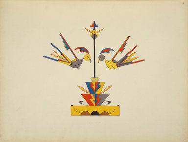 [Pueblo Indian painting; 50 reproductions of watercolor paintings by Indian artists of the New Mexican pueblos of San Ildefonso and Sia, Bird-Forms]