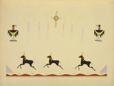 [Pueblo Indian painting; 50 reproductions of watercolor paintings by Indian artists of the New Mexican pueblos of San Ildefonso and Sia, Galloping Deer]