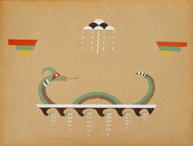 [Pueblo Indian painting; 50 reproductions of watercolor paintings by Indian artists of the New Mexican pueblos of San Ildefonso and Sia, Emblem of the Universe]
