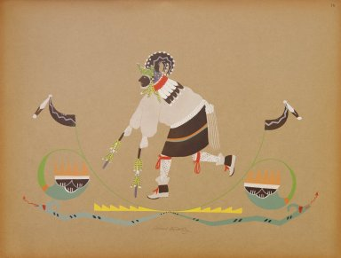 [Pueblo Indian painting; 50 reproductions of watercolor paintings by Indian artists of the New Mexican pueblos of San Ildefonso and Sia, Big Horn Sheep]
