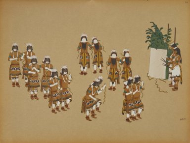 [Pueblo Indian painting; 50 reproductions of watercolor paintings by Indian artists of the New Mexican pueblos of San Ildefonso and Sia, Snake Dance]