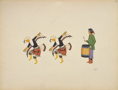 [Eagle Dance, Pueblo Indian painting; 50 reproductions of watercolor paintings by Indian artists of the New Mexican pueblos of San Ildefonso and Sia]