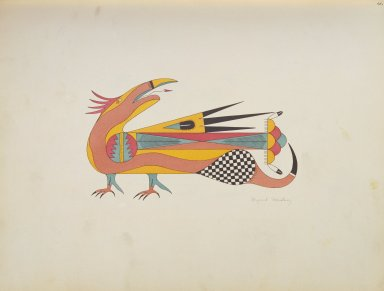 [Pueblo Indian painting; 50 reproductions of watercolor paintings by Indian artists of the New Mexican pueblos of San Ildefonso and Sia, Macaw]