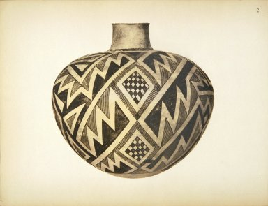 [Pueblo Indian Pottery; 50 reproductions in color from specimens in the famous collection of the Indian arts fund, Jar]