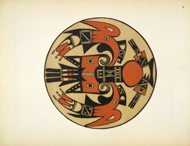 [Pueblo Indian Pottery; 50 reproductions in color from specimens in the famous collection of the Indian arts fund, Bird Design]