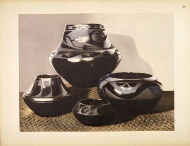 [Pueblo Indian Pottery; 50 reproductions in color from specimens in the famous collection of the Indian arts fund, New Pottery]