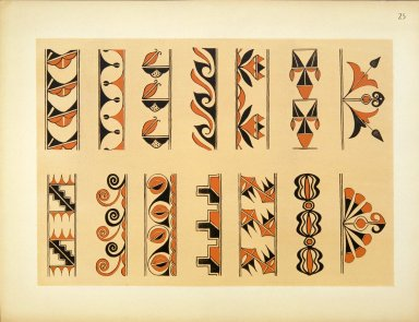 [Pueblo Indian Pottery; 50 reproductions in color from specimens in the famous collection of the Indian arts fund, Typical Designs from Antique Pottery.]