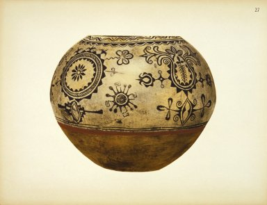 [Pueblo Indian Pottery; 50 reproductions in color from specimens in the famous collection of the Indian arts fund, Storage Jar]