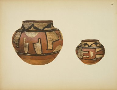 [Pueblo Indian Pottery; 50 reproductions in color from specimens in the famous collection of the Indian arts fund, Water Jars]