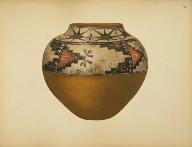 [Storage Jar, Pueblo Indian Pottery; 50 reproductions in color from specimen in the famous collection of the Indian arts fund]