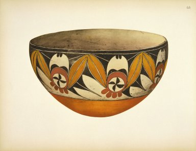 [Bowl, Pueblo Indian Pottery; 50 reproductions in color from specimen in the famous collection of the Indian arts fund]