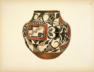 [Water Jar, Pueblo Indian Pottery; 50 reproductions in color from specimen in the famous collection of the Indian arts fund]