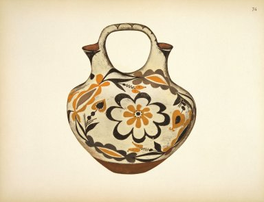 [Jar, Pueblo Indian Pottery; 50 reproductions in color from specimen in the famous collection of the Indian arts fund]