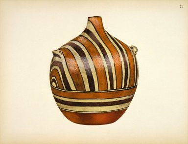 [Pueblo Indian Pottery; 50 reproductions in color from specimen in the famous collection of the Indian arts fund, Canteen and Water Jar]