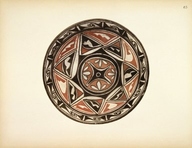 [Food Bowl, Pueblo Indian Pottery; 50 reproductions in color from specimen in the famous collection of the Indian arts fund]