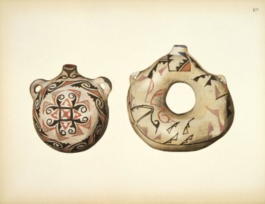 [Pueblo Indian Pottery; 50 reproductions in color from specimen in the famous collection of the Indian arts fund, Canteens]