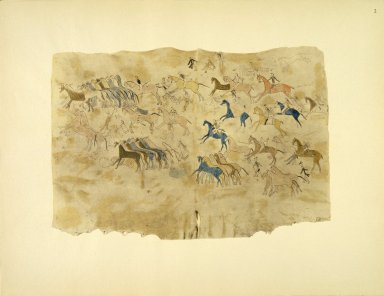 [Sioux Indian painting, A Painted Lining or Inner Hanging of a Lodge]