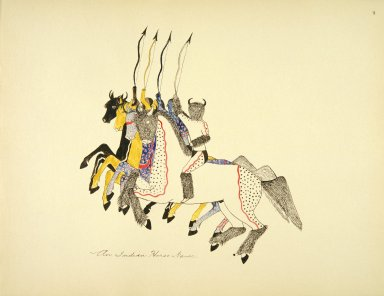 [Sioux Indian painting, An Indian Horse Dance]