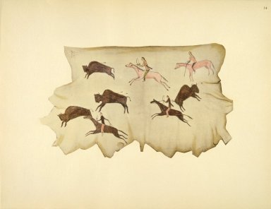 [Buffalo Hunt, Sioux Indian painting]