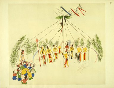 [Sioux Indian painting, Shoshone Sun Dance]