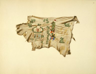 [Sioux Indian painting, Erection of the Sun Dance Lodge of the Kiowa.]