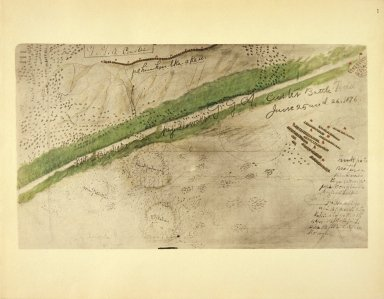 [Sioux Indian painting, Topographical Chart of the Battlefield of the Little Big Horn]